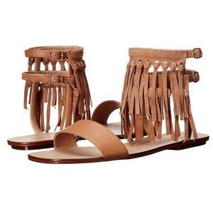 Splendid | Taryn Fringe leather moccasin sandals